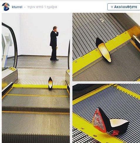 Η Louboutin που «πέθανε» στις κυλιόμενες σκάλες του Condé Nast.