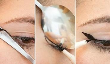 Πως να βάλεις σωστά το eyeliner...με ένα κουτάλι!