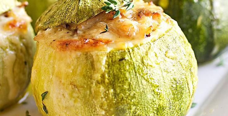 Κολοκυθάκια γεμιστά με τυρί