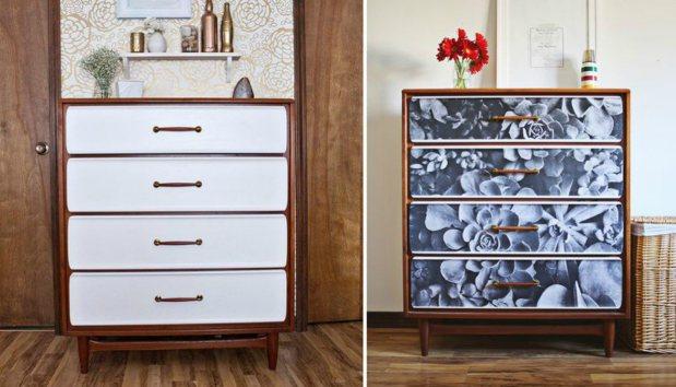 Μεταμορφώστε τη συρταριέρα της γιαγιάς σε Design έπιπλο.