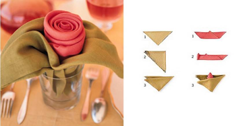 4 Τρόποι να διπλώσετε τις πετσέτες για το εορταστικό δείπνο