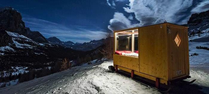 καλύβα στις Ιταλικές Άλπεις