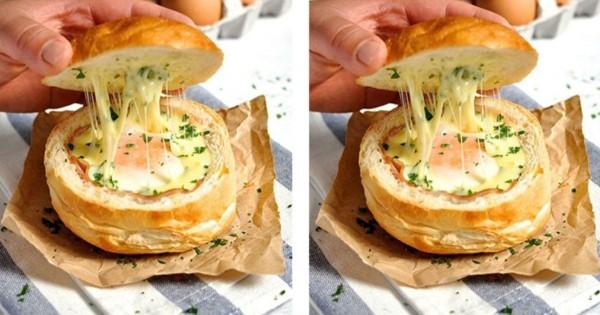Συνταγή για λαχταριστά γεμιστά ψωμάκια με 4 υλικά