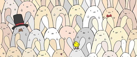 Μπορείτε να βρείτε το αυγό που «κρύβεται» ανάμεσα στα λαγουδάκια;