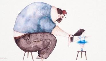 9 αξιολάτρευτα σκίτσα που δείχνουν την τρυφερή σχέση πατέρα και κόρης