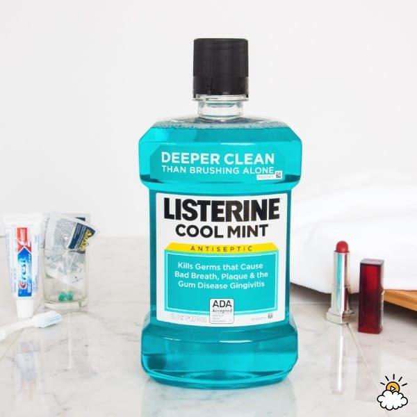 Βρέχει με στοματικό διάλυμα Listerine 2