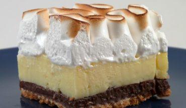 Lemon pie με σαντιγί
