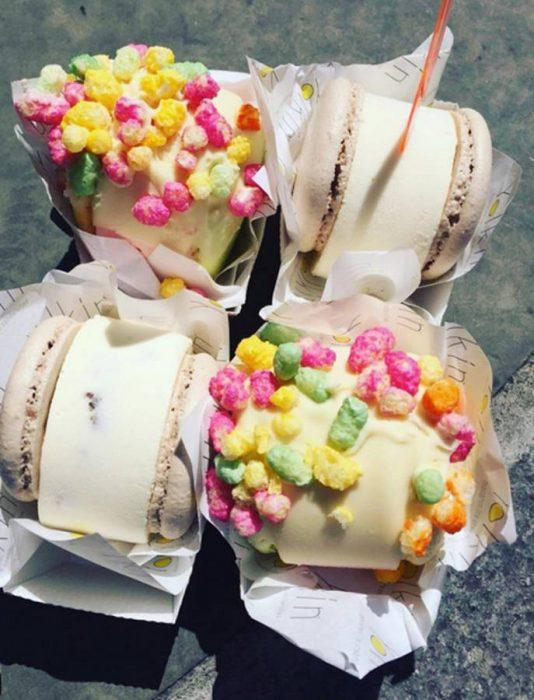 Μακαρόν και παγωτό 2