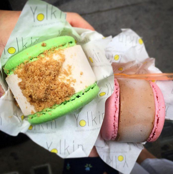 Μακαρόν και παγωτό 3