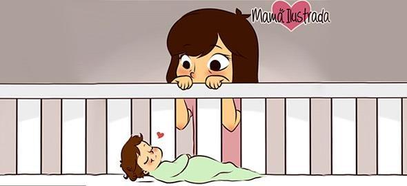 Τι σημαίνει να είσαι μαμά: 8 ρεαλιστικά σκίτσα 1