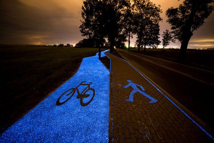 Στην Πολωνία υπάρχει ένας ποδηλατόδρομος που φωτίζεται από το φως του ήλιου. 3