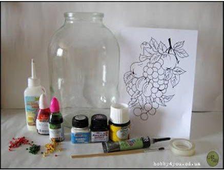Πώς να περάσετε σχέδιο πάνω σε γυάλινο βάζο! 3