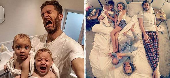 Μπαμπάς δείχνει πώς είναι η καθημερινότητα του με 4 κόρες 1