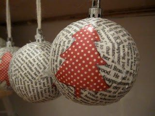 Φτιάξτε πανέμορφα Χριστουγεννιατικα στολίδια από περιοδικά και εφημερίδες!  10