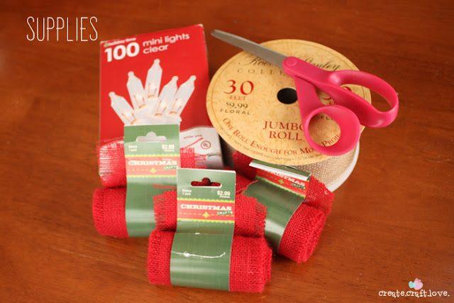 Πως να φτιάξουμε Χριστουγεννιάτικη Γιρλάντα με Φωτάκια και Λινάτσα!  3