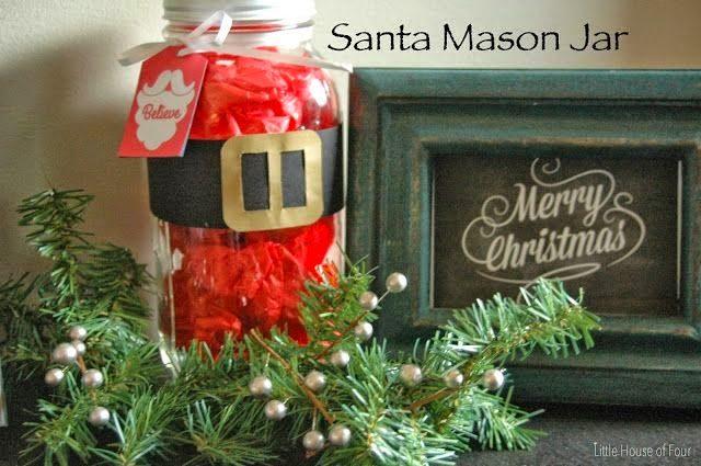 35 Χριστουγεννιάτικες κατασκευές απο άδεια γυάλινα βάζα! 11