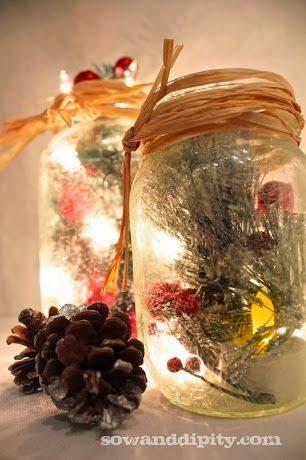35 Χριστουγεννιάτικες κατασκευές απο άδεια γυάλινα βάζα! 16