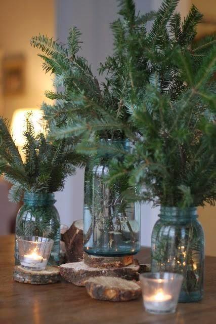35 Χριστουγεννιάτικες κατασκευές απο άδεια γυάλινα βάζα! 19