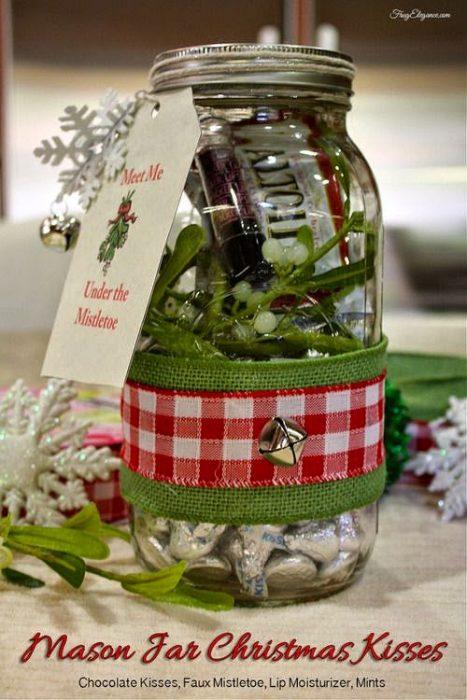35 Χριστουγεννιάτικες κατασκευές απο άδεια γυάλινα βάζα! 20
