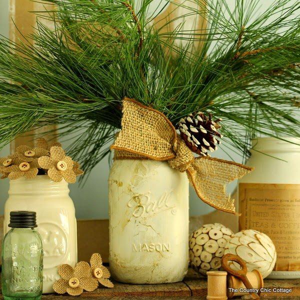35 Χριστουγεννιάτικες κατασκευές απο άδεια γυάλινα βάζα! 8