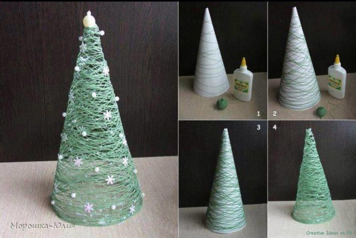 υπέροχα Χριστουγεννιάτικα δέντρα που μπορείτε να φτιάξετε μόνοι σας σε ελάχιστο χρόνο 10