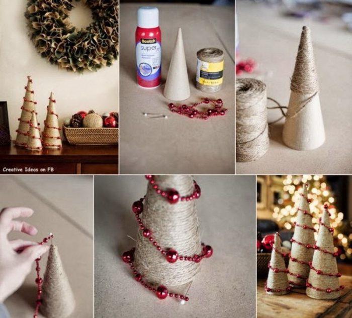 υπέροχα Χριστουγεννιάτικα δέντρα που μπορείτε να φτιάξετε μόνοι σας σε ελάχιστο χρόνο 14